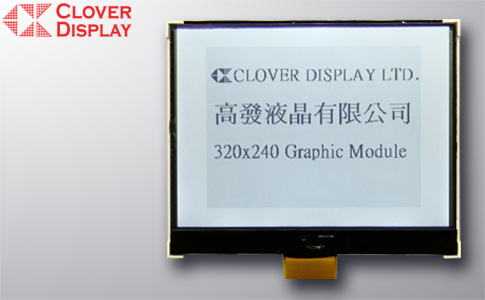 320 X 240 Dots one chip with Touch Panel as an option