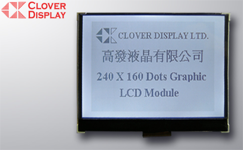 240 x 160 Dots with Touch Panel as an option